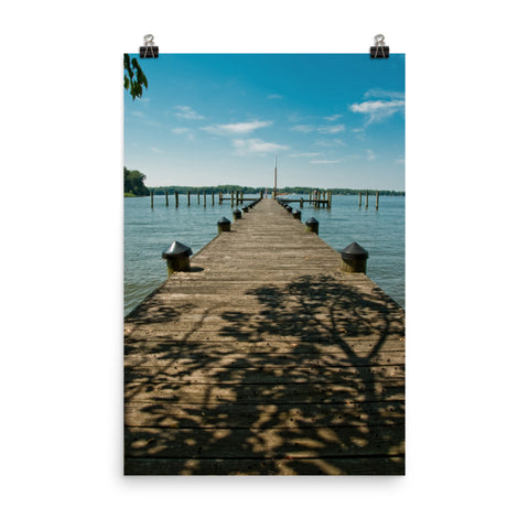 Endless Dock Coastal Landscape Photo Loose Wall Art Print