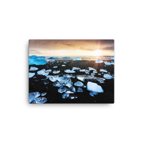 Fire and Ice Coastal Landscape Canvas Wall Art Prints