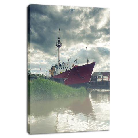 Foggy River Coastal Landscape Photo Fine Art Canvas Wall Art Prints