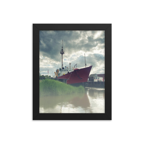 Foggy River Coastal Landscape Framed Photo Paper Wall Art Prints