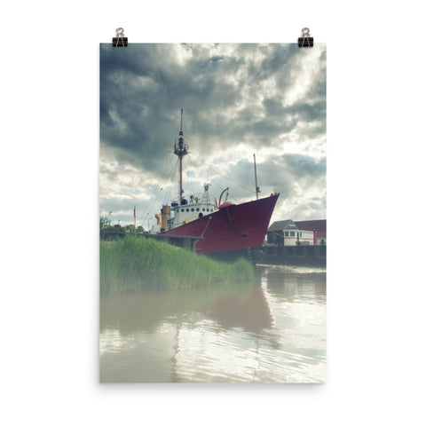 Foggy River Coastal Landscape Photo Loose Wall Art Print
