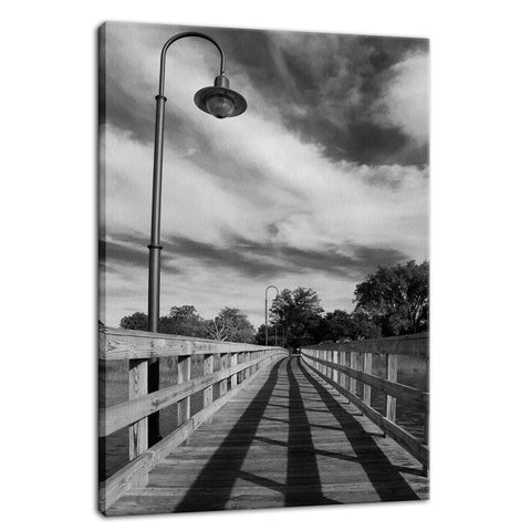 Follow the Lines Rural Landscape Photo Fine Art Canvas Wall Art Prints