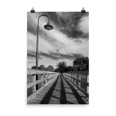 Follow the Lines Black and White Landscape Photo Loose Wall Art Print