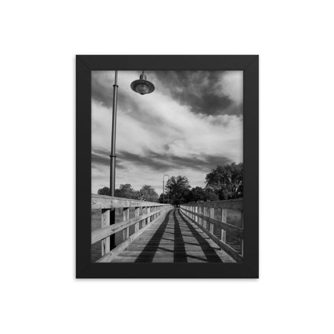 Follow the Lines Rural Landscape Framed Photo Paper Wall Art Prints