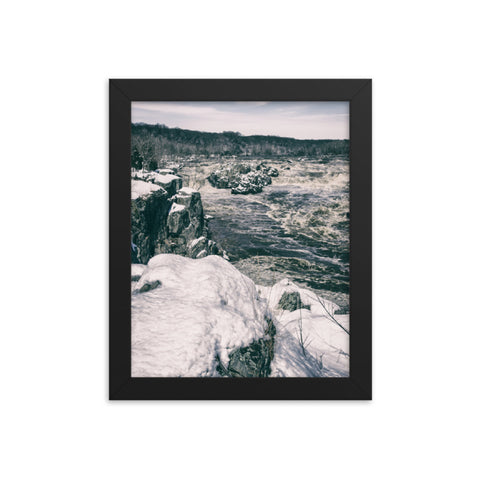 Great Falls Vintage Rural Landscape Framed Photo Paper Wall Art Prints