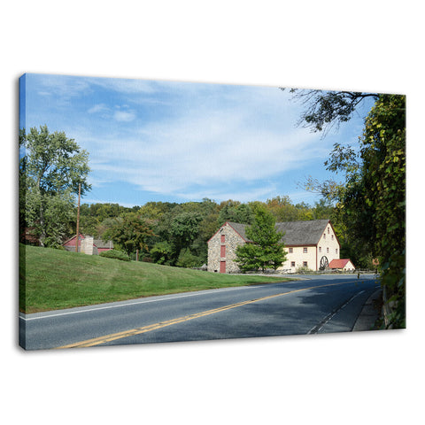 Greenbank Mill Summer Rural Landscape Photo Fine Art Canvas Wall Art Prints