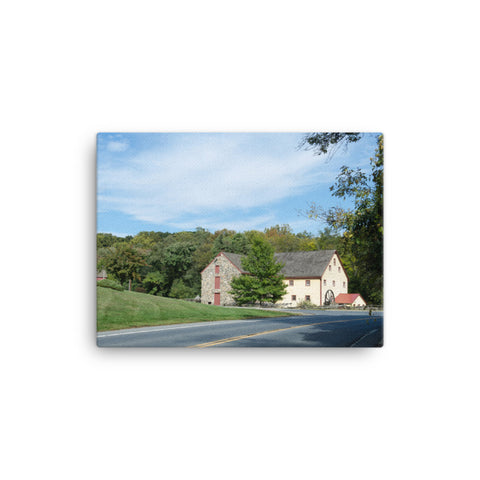 Greenbank Mill Summer Rural Landscape Canvas Wall Art Prints