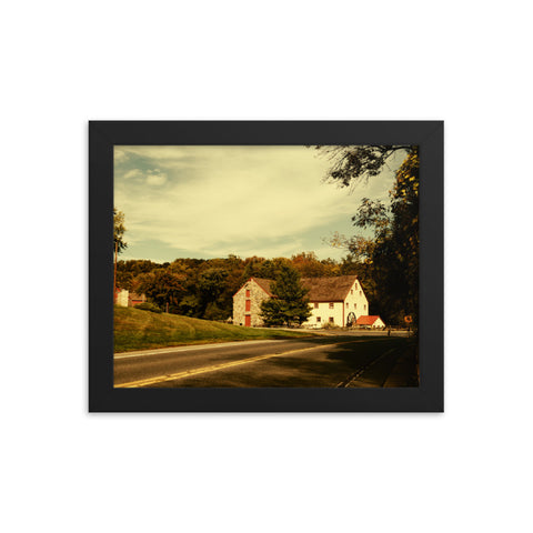 Greenbank Mill Summer Colorized Rural Framed Photo Paper Wall Art Prints