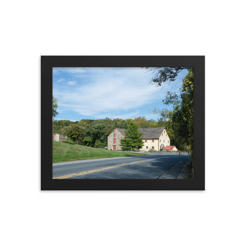 Greenbank Mill Summer Rural Landscape Framed Photo Paper Wall Art Prints