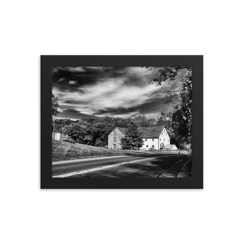 Greenbank Mill Summer in Black and White Framed Photo Paper Wall Art Prints
