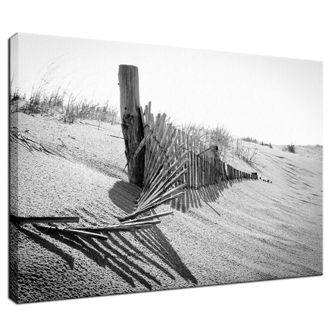 High Key Dunes Coastal Landscape Photograph Fine Art Canvas Wall Art Prints