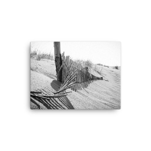 High Key Dunes Black and White Coastal Landscape Canvas Wall Art Prints