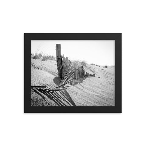 High Key Dunes Coastal Landscape Framed Photo Paper Wall Art Prints