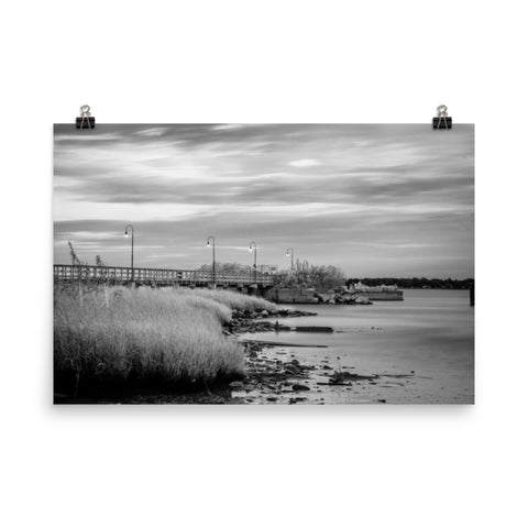 Historic New Castle 2 Black and White Landscape Photo Loose Wall Art Prints