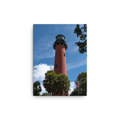Jupiter Lighthouse 2 Color Coastal Landscape Canvas Wall Art Prints