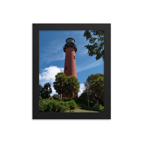 Jupiter Lighthouse 2 Color Framed Photo Paper Wall Art Prints