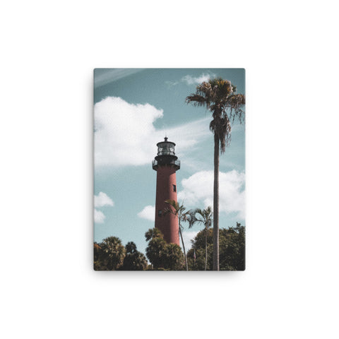 Jupiter Lighthouse Colorized Coastal Landscape Canvas Wall Art Prints
