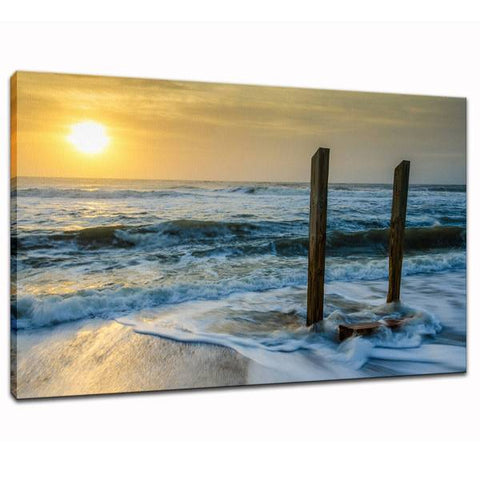 Kissed by the Sea Coastal Landscape Photo Fine Art Canvas Wall Art Prints