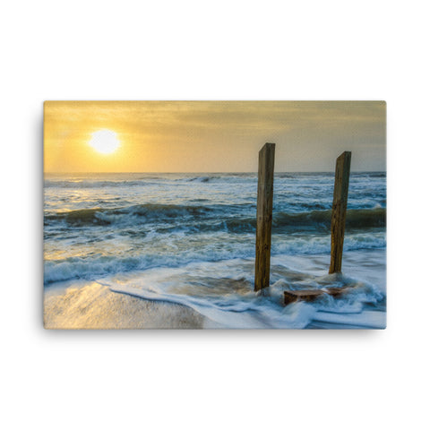 Kissed by the Sea Coastal Landscape Canvas Wall Art Prints