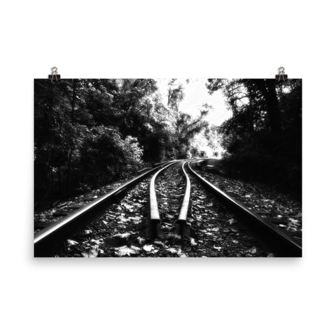 Lead Me Into The Light Black and White Landscape Photo Loose Wall Art Prints