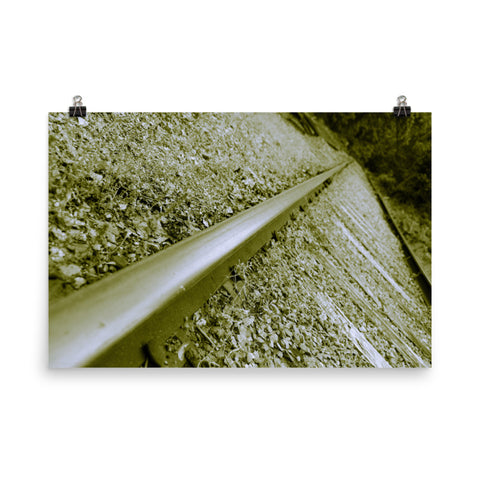 Lonely Rails Landscape Photo Loose Wall Art Prints