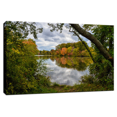 Lost In Autumn Color Landscape Photo Fine Art Canvas Wall Art Prints