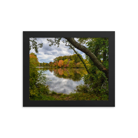 Lost In Autumn Color Landscape Framed Photo Paper Wall Art Prints