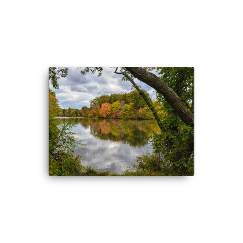 Lost in Autumn Color Rural Landscape Canvas Wall Art Prints