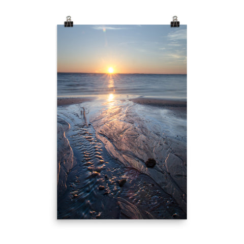 Low Tide Ravine Coastal Landscape Photo Loose Wall Art Print