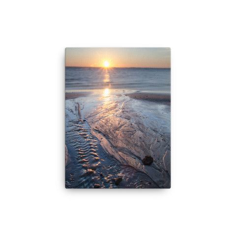 Low Tide Ravine Coastal Landscape Canvas Wall Art Prints