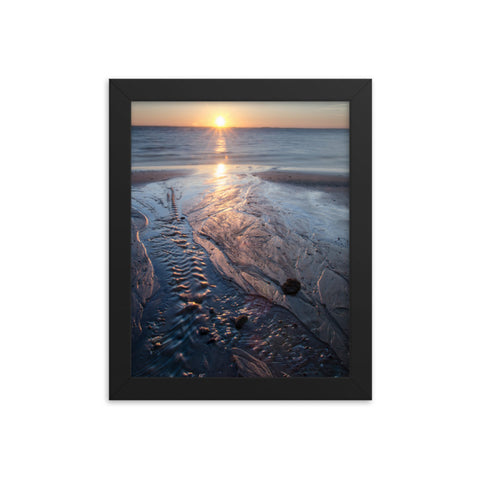 Low Tide Ravine Landscape Framed Photo Paper Wall Art Prints