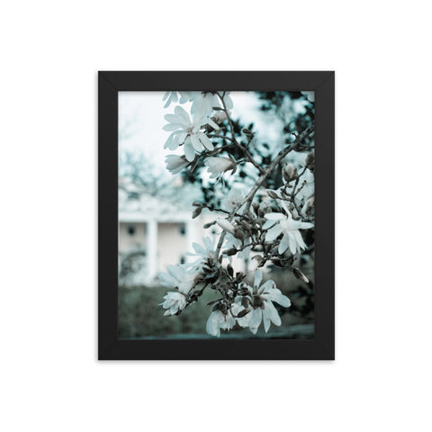 Mansion Bloom Colorized Nature Landscape Framed Photo Paper Wall Art Prints