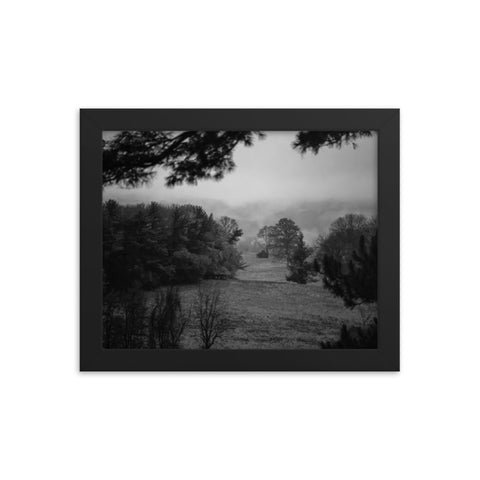 Mist of Valley Forge in Black and White Framed Photo Paper Wall Art Prints