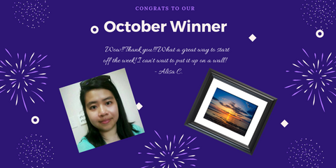 Our October Wall Art raffle winners