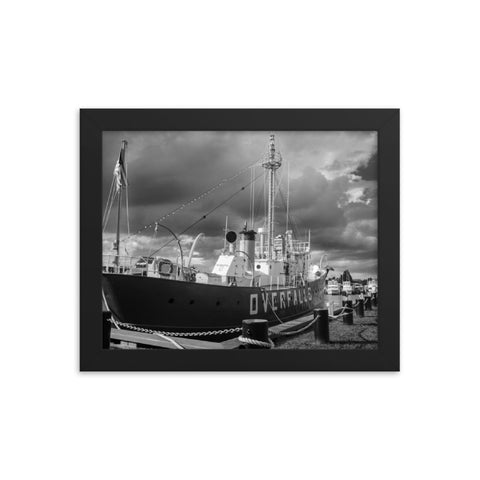 Overfalls Lightship Lewes Black and White Framed Photo Paper Wall Art Prints