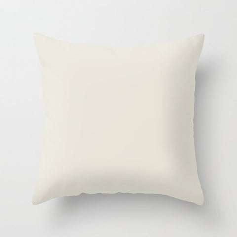Pastel Tan Solid Color Pairs with PPG Glidden Oatmeal PPG1023-1 Solid Color Throw Pillow