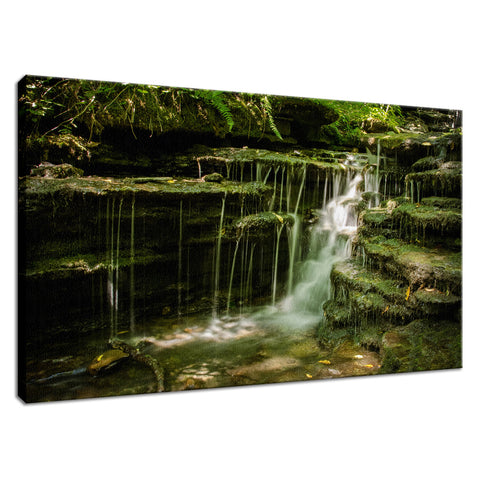 Pixley Waterfall 1 Landscape Photo Fine Art Canvas Wall Art Prints