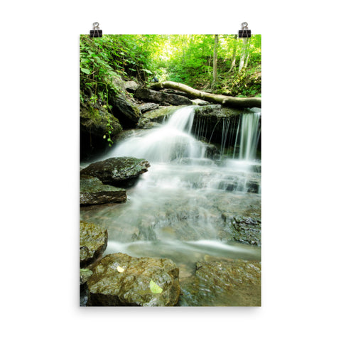 Pixley Falls 2 Waterfalls Landscape Photo Loose Wall Art Print