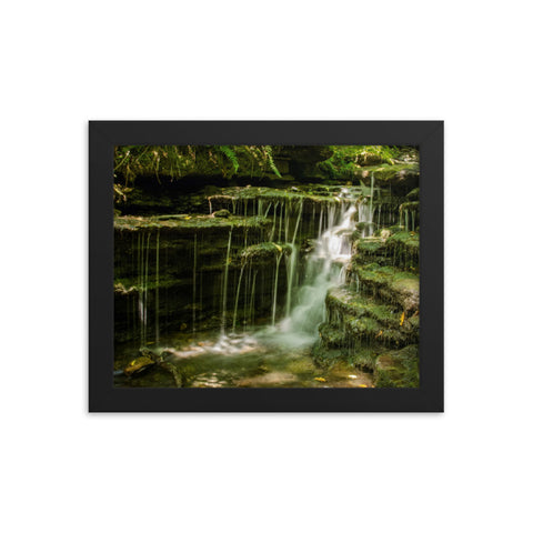 Pixley Waterfall 1 Landscape Framed Photo Paper Wall Art Prints