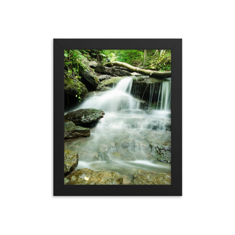 Pixley Waterfall 2 Rural Landscape Framed Photo Paper Wall Art Prints