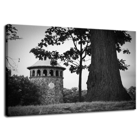 Rockford Tower in Black and White Fine Art Canvas Wall Art Prints