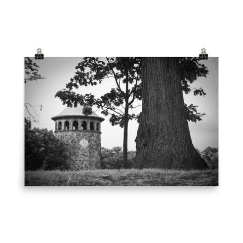 Rockford Tower 2 Black and White Landscape Photo Loose Wall Art Prints