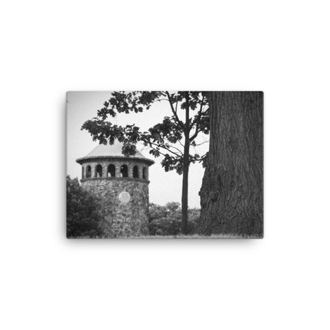 Rockford Tower 2 Black and White Rural Landscape Canvas Wall Art Prints