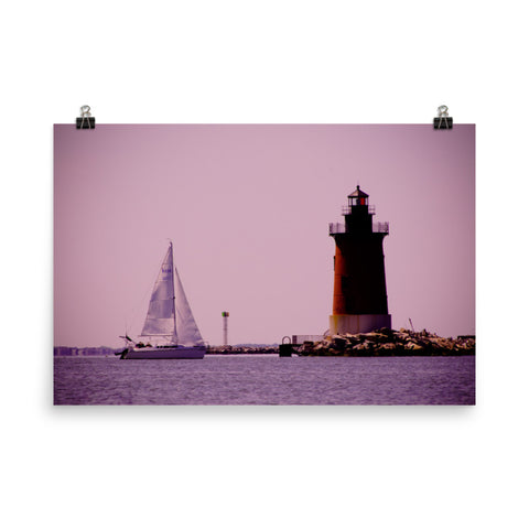 Sailing in the Bay Landscape Photo Loose Wall Art Prints