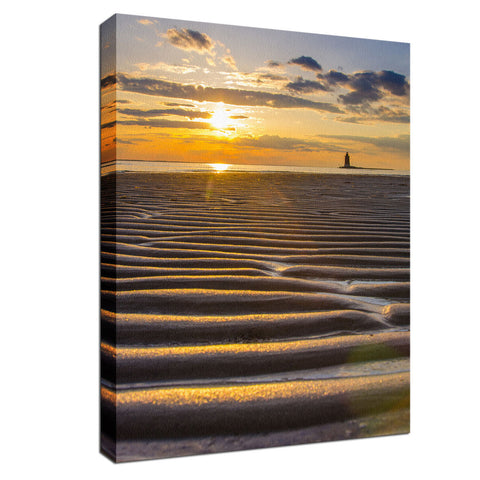 Sandbars Coastal Landscape Photo Fine Art Canvas Wall Art Prints
