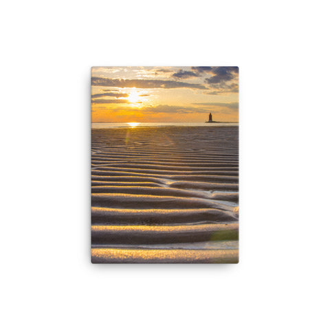 Sandbars and Sunset Coastal Landscape Canvas Wall Art Prints