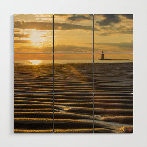 Sandbars Landscape Photo Multi Panel Wood Wall Art Prints