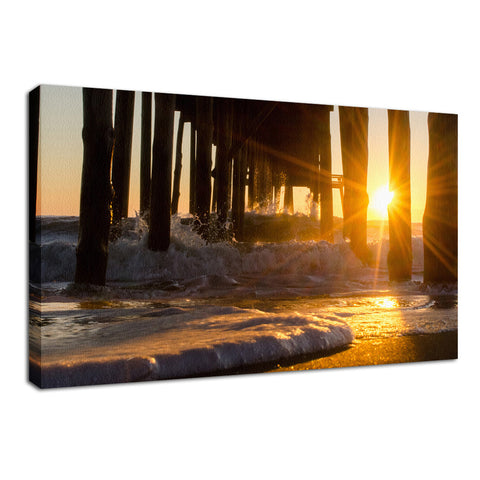 Seafoam in the Sunlight Landscape Photo Fine Art Canvas Wall Art Prints