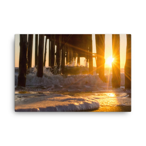 Seafoam In The Sunlight Coastal Landscape Canvas Wall Art Prints
