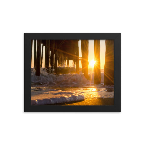 Seafoam in the Sunlight Landscape Framed Photo Paper Wall Art Prints